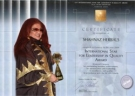 Мадам Шахназ Хусейн получила престижную награду « International Star Award for Quality 2009»